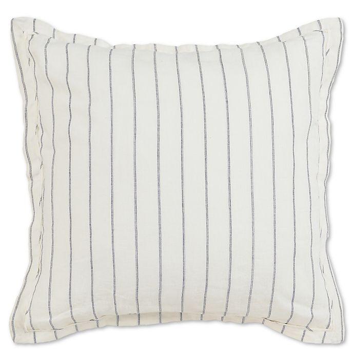Alternate image 1 for Villa Home Monaco European Pillow Sham in Ivory/Charcoal