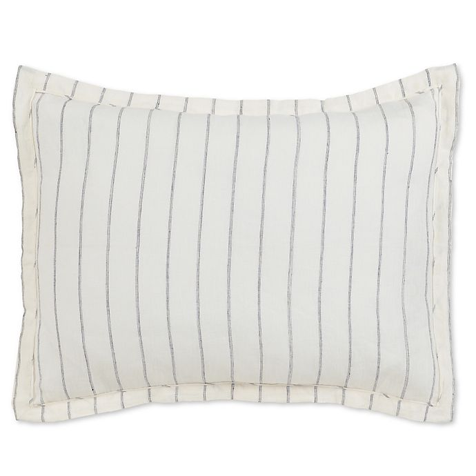Alternate image 1 for Villa Home Monaco Standard Pillow Sham in Ivory/Charcoal