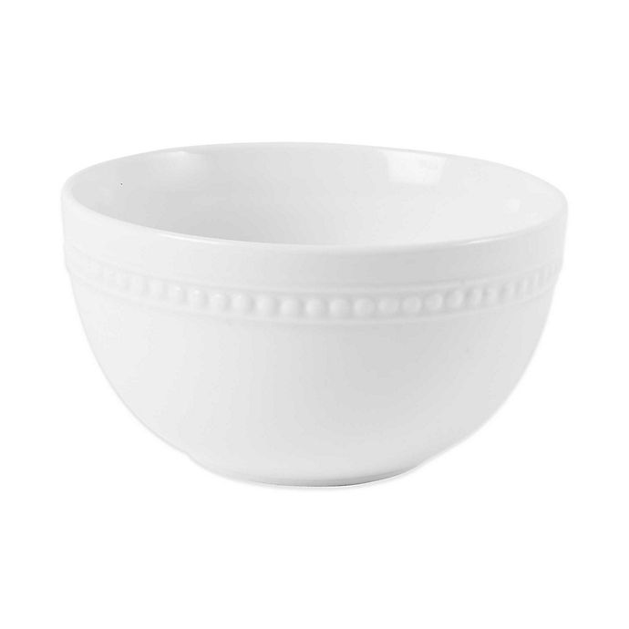Alternate image 1 for Everyday White® by Fitz and Floyd® Beaded Cereal Bowl