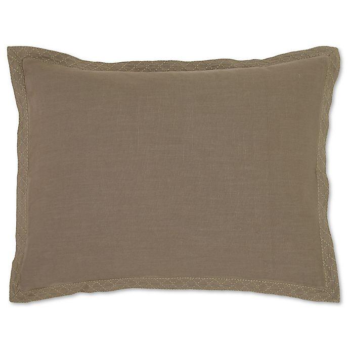 Alternate image 1 for Villa Home Resort King Pillow Sham in Brown/White