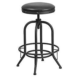 Flash Furniture Bar Stool with Swivel Lift in Black