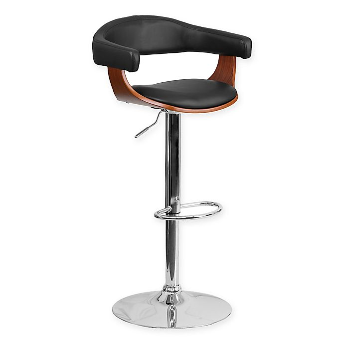 Flash Furniture Bentwood Adjustable Height Bar Stool In
