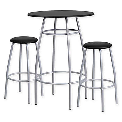 Flash Furniture Bar Height Table and Stool Set in Black