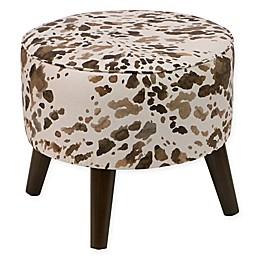 Skyline Furniture Ottoman in Cow Cream