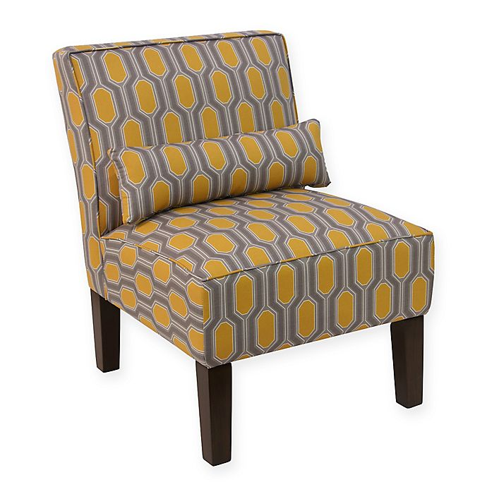 Skyline Furniture Accent Chair in Hexagon Yellow | Bed ...