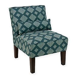 Skyline Furniture Accent Chair in Line Lattice Teal