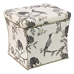 Skyline Furniture Storage Ottoman in Ink Cream