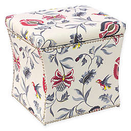 Skyline Furniture Storage Ottoman in Bright Cream