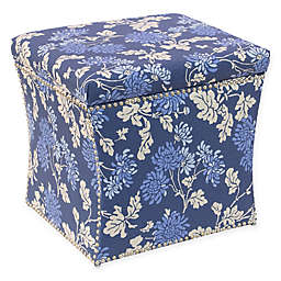 Skyline Furniture Storage Ottoman in Blue