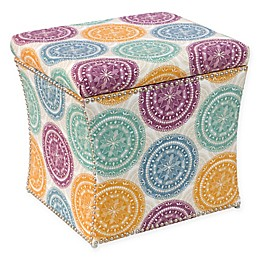 Skyline Furniture Storage Ottoman in Medallion