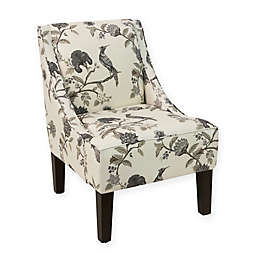 Skyline Furniture Sweep Arm Accent Chair in Ink Cream