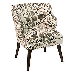 Skyline Furniture Modern Arm Chair in Cow Cream
