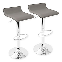 Lumisource Ale Adjustable Bar Stools in Grey (Set of 2)