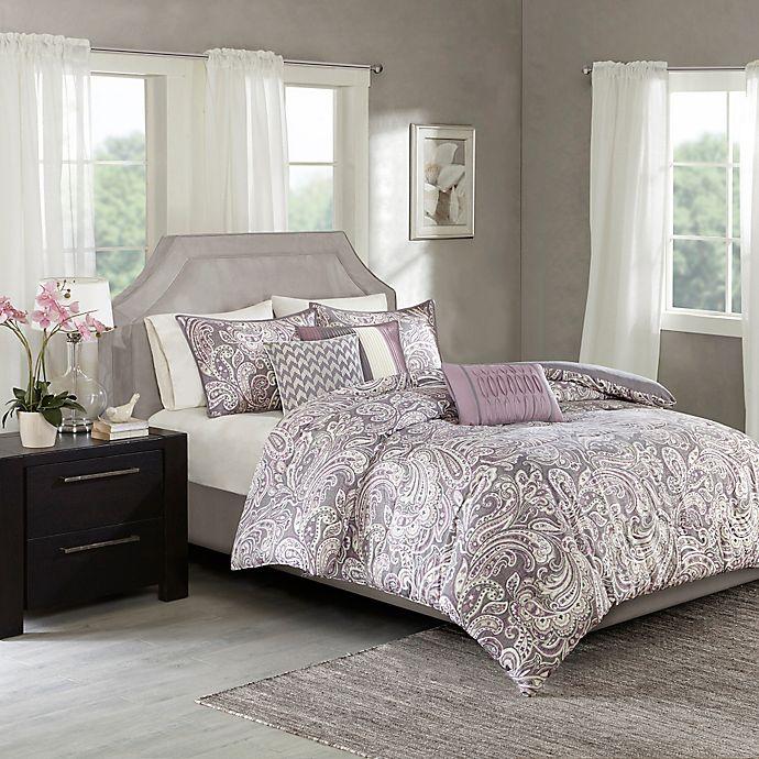 Alternate image 1 for Madison Park Gabby 7-Piece King Comforter Set in Purple