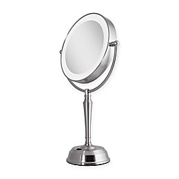Zadro® Rechargeable 1X/10X LED Vanity Mirror with USB Port