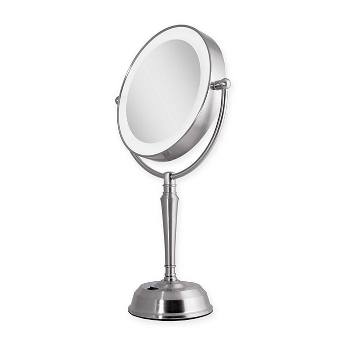 Alternate image 1 for Zadro® Rechargeable 1X/10X LED Vanity Mirror with USB Port