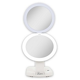 Zadro™ Next Generation 1X/10X Travel Compact Mirror in White