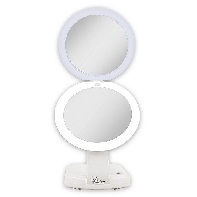Alternate image 1 for Zadro™ Next Generation 1X/10X Travel Compact Mirror in White
