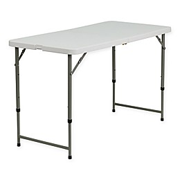 Flash Furniture Adjustable Folding Table in White