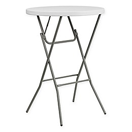 Flash Furniture 32-Inch Round Bar Height Folding Table in White