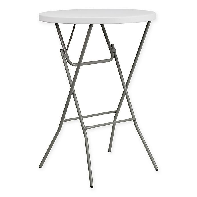 Flash Furniture 32 Inch Round Bar Height Folding Table In