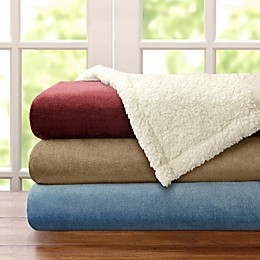 Madison Park® Microlight to Berber Blanket in Red