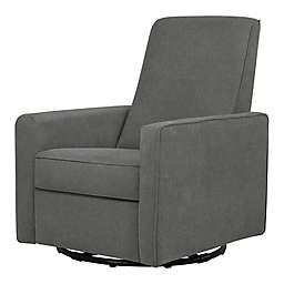DaVinci Piper All-Purpose Upholstered Glider Recliner in Dark Grey