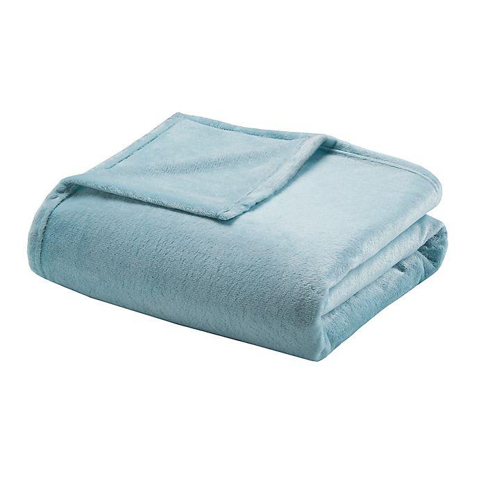 Alternate image 1 for Comfort Classics® MicroLight Full/Queen Blanket in Blue