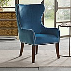 Madison Park Addy Wingback Accent Chair in Slate Blue