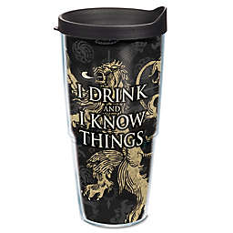 """Tervis® Game of Thrones """"I Drink and I Know Things"""" 24 oz. Wrap Tumbler with Lid"""