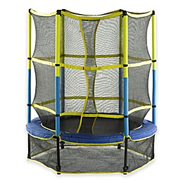 Upper Bounce 55-Inch Kids Mini Trampoline with Enclosure