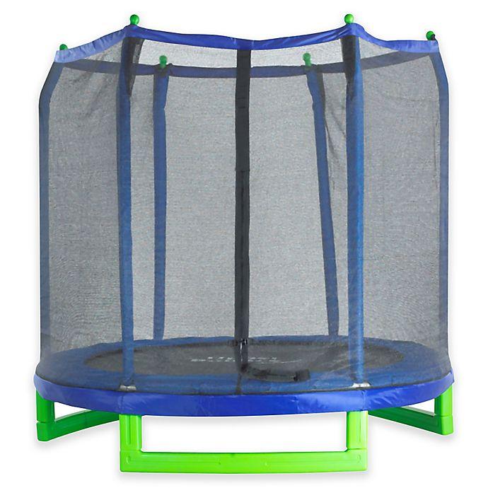Alternate image 1 for Upper Bounce 7-Foot Indoor/Outdoor Kids Trampoline with Enclosure