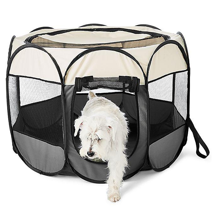 Alternate image 1 for Pawslife™ Portable Dog Pen in Grey