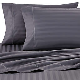 Wamsutta® Damask Stripe 500-Thread-Count PimaCott®  King Pillowcases in Denim (Set of 2)