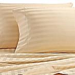 Wamsutta® Damask Stripe 500-Thread-Count PimaCott® King Sheet Set in Honey
