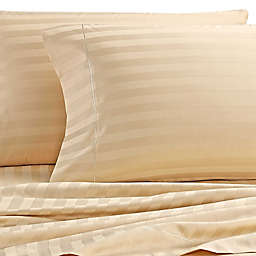 Wamsutta® Damask Stripe 500-Thread-Count PimaCott®  Standard Pillowcases in Honey (Set of 2)