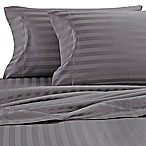 Wamsutta® Damask Stripe 500-Thread-Count PimaCott® Full Sheet Set in Grey
