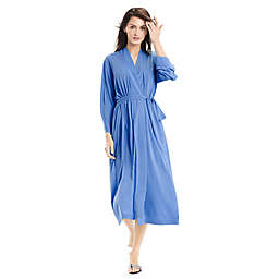 N Natori® Congo Size Medium Jersey Knit Long Robe in Blue