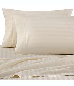 Fundas para almohadas king Wamsutta® Damask Stripe de PimaCott® de 500 hilos color marfil, 2 piezas