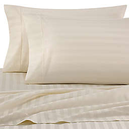 Wamsutta® Damask Stripe 500-Thread-Count PimaCott® Twin Sheet Set in Ivory