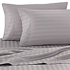 Wamsutta® Damask Stripe 500-Thread-Count PimaCott® Standard Pillowcases in Silver (Set of 2)