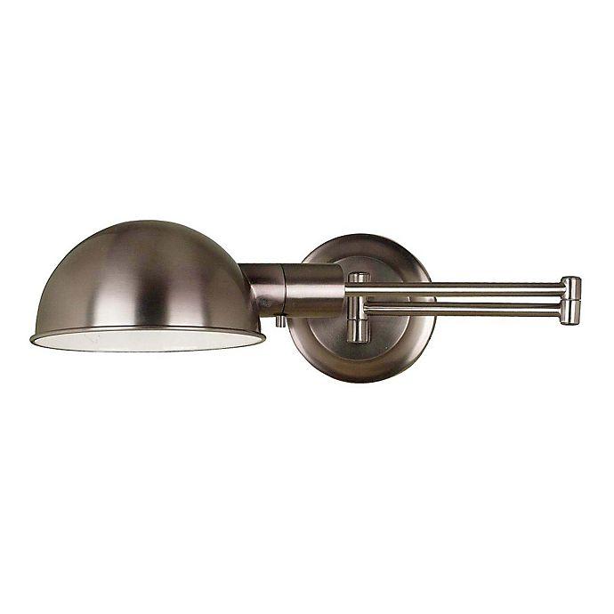 Alternate image 1 for Kenroy Home Frye 1-Light Swing Arm Wall Lamp in Nickel