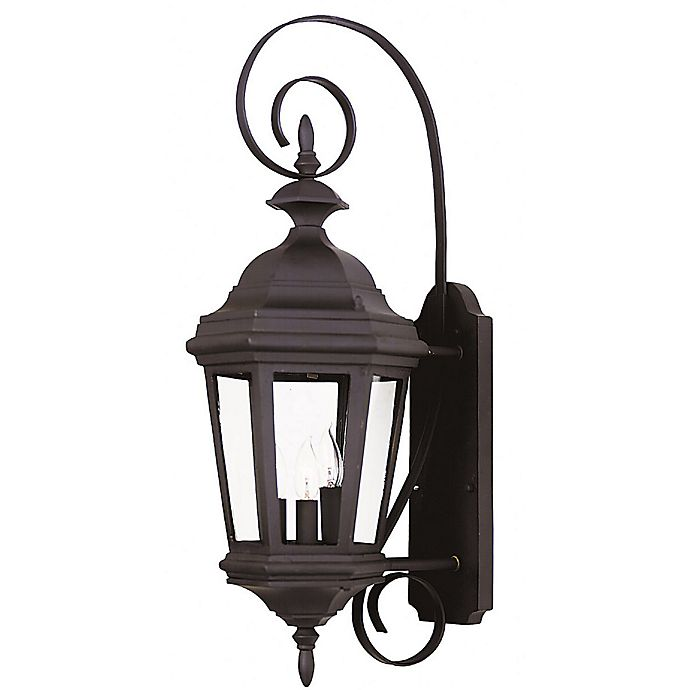 Alternate image 1 for Kenroy Home Estate 3-Light Medium Wall Lantern in Black