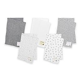 Burt's Bees Baby® 5-Pack Organic Cotton Burp Cloths in Grey
