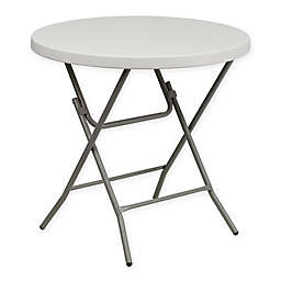 Flash Furniture Round Folding Table in White
