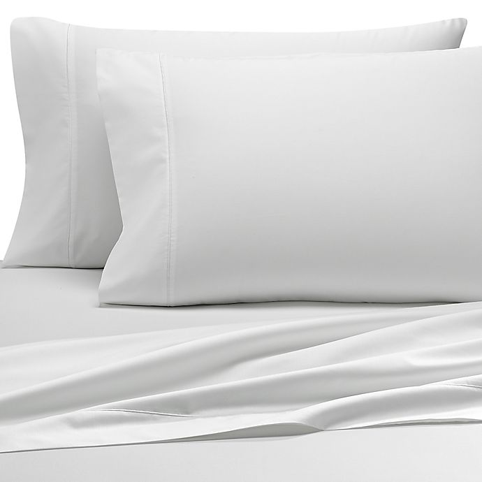 Alternate image 1 for Wamsutta® Pima 500-Thread-Count Queen Sheet Set in White