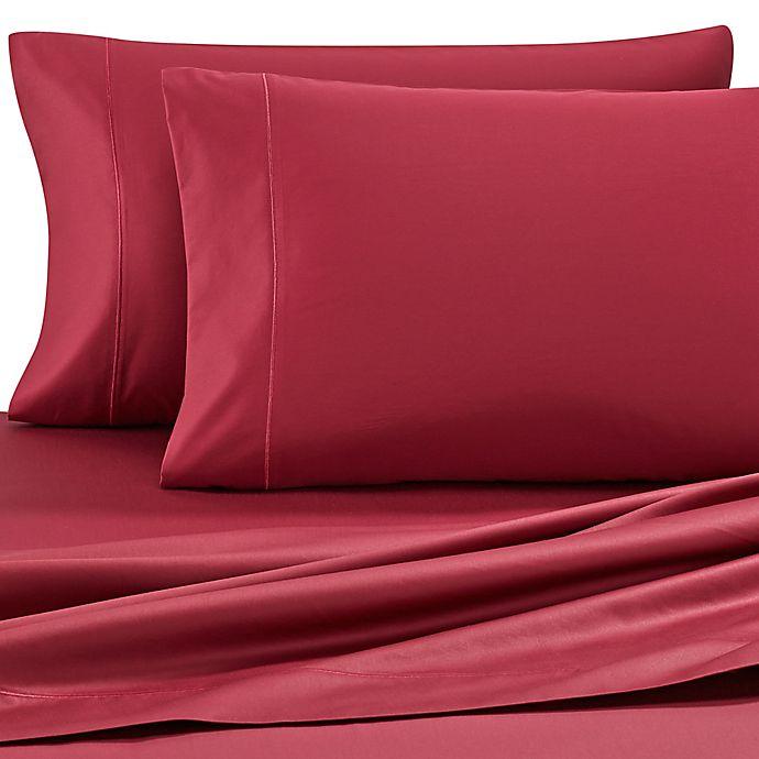 Alternate image 1 for Wamsutta® 500-Thread-Count Pima  Twin XL Sheet Set in Burgundy