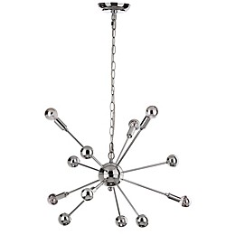 Safavieh Matrix Sputnik 6-Light Pendant in Chrome