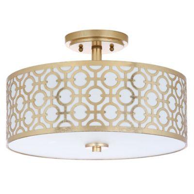 gold flush mount ceiling light