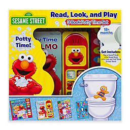 Sesame Street® Read, Look and Play Elmo Potty Book 3-Piece Box Set